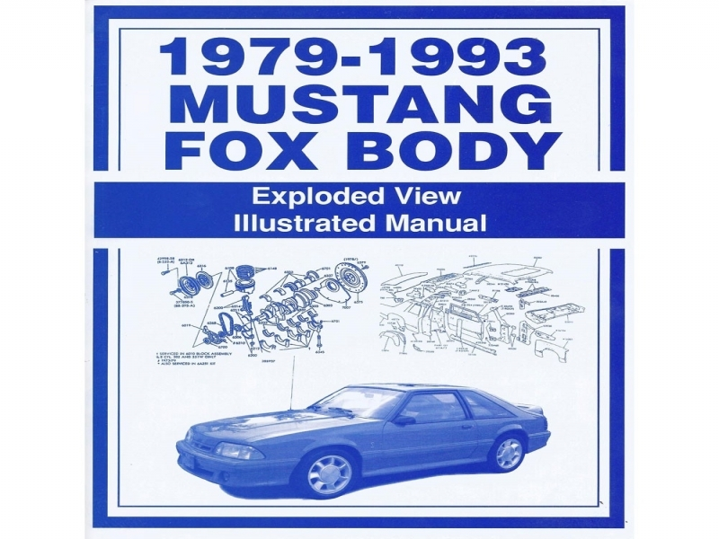 Jim Osborn Mp0024 Mustang Exploded View Illustrated Manual 1979-93
