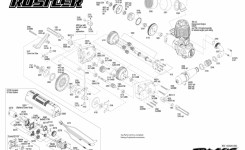 Nitro Rustler (44094-1) Transmission Assembly Exploded View | Traxxas