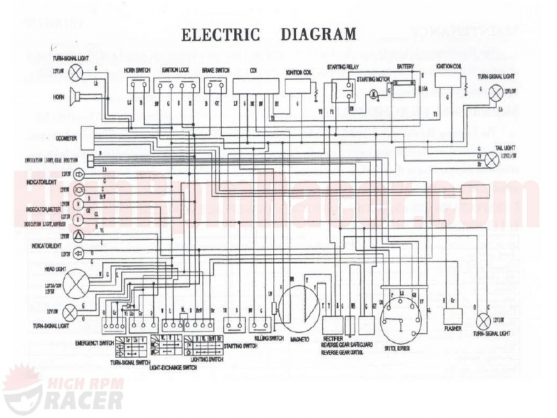 110 roketa wiring diagram roketa 110 atv wiring diagram