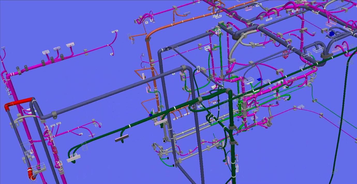hight resolution of  lighter software designs allow for routing diagrams of multiple wiring splines