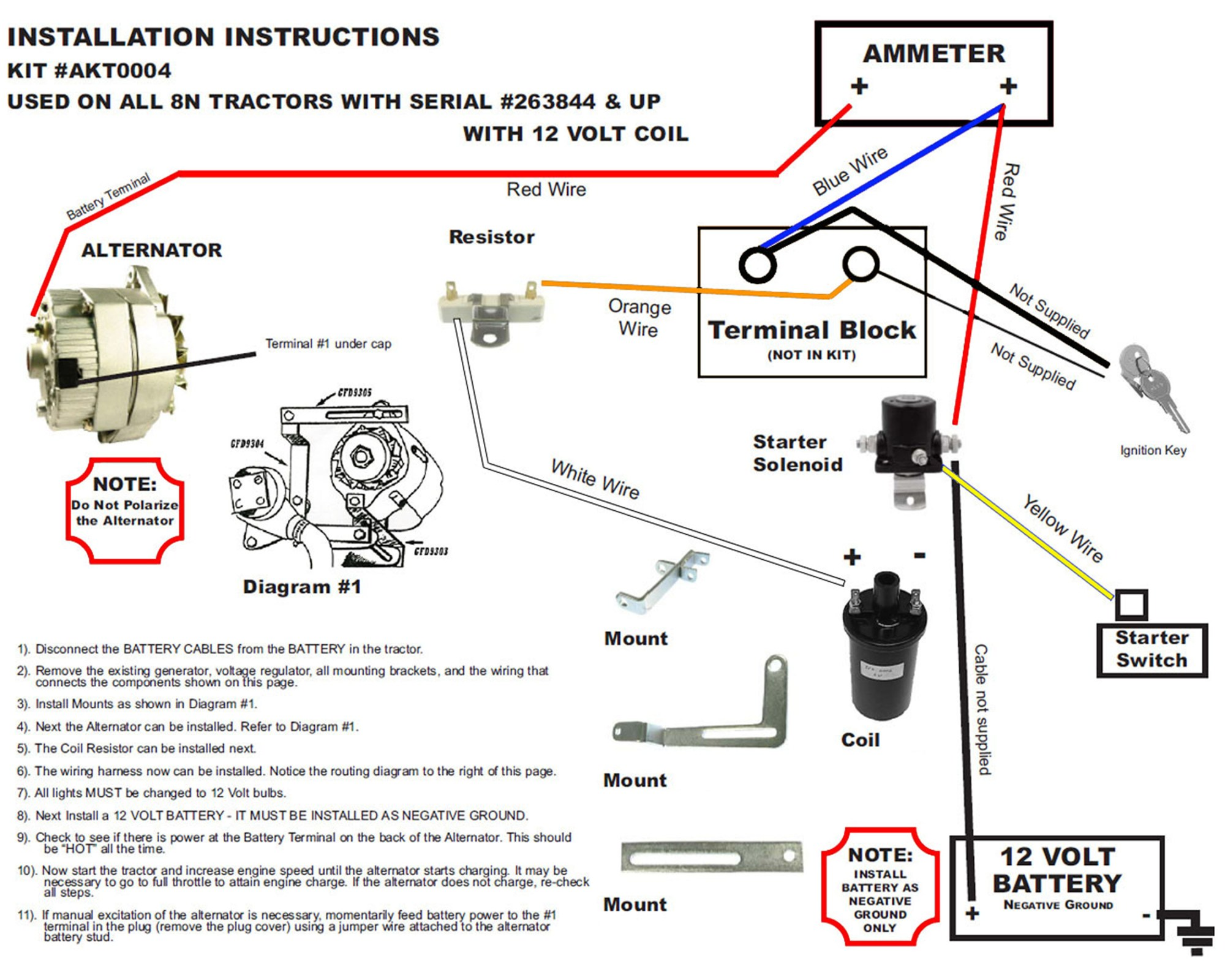 hight resolution of 12 volt wiring diagram ford 8n tractor 1 wire alternator wiring 12 volt alternator wiring diagram