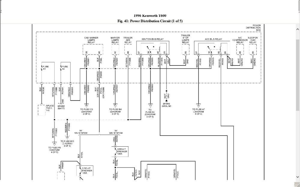 medium resolution of 1989 kenworth wiring diagram
