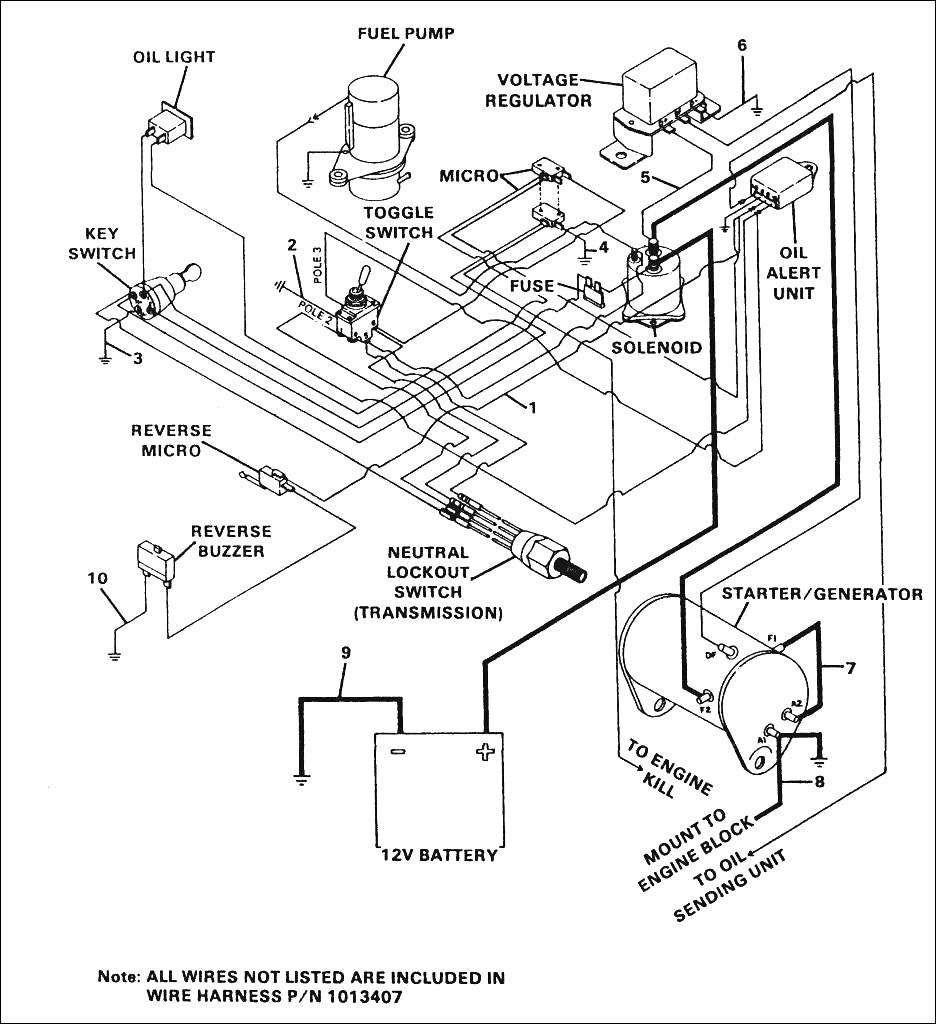 medium resolution of 2009 club car gas wiring diagram