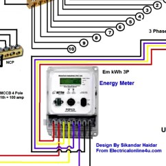 Electricity Meter Wiring Diagram Mount St Helens 3 Phase 4 Wire Of Energy Electric