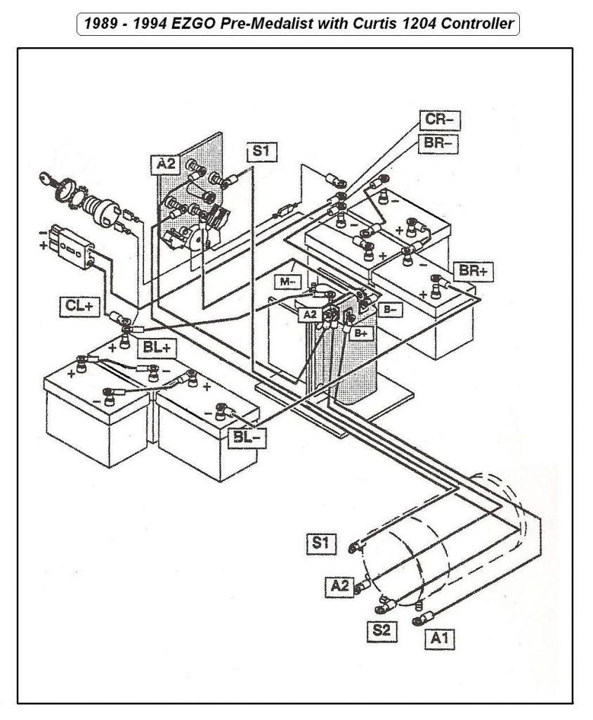 ezgo solenoid wiring diagram 36 volt wiring diagram  36 volt ezgo wiring diagram1990 #4