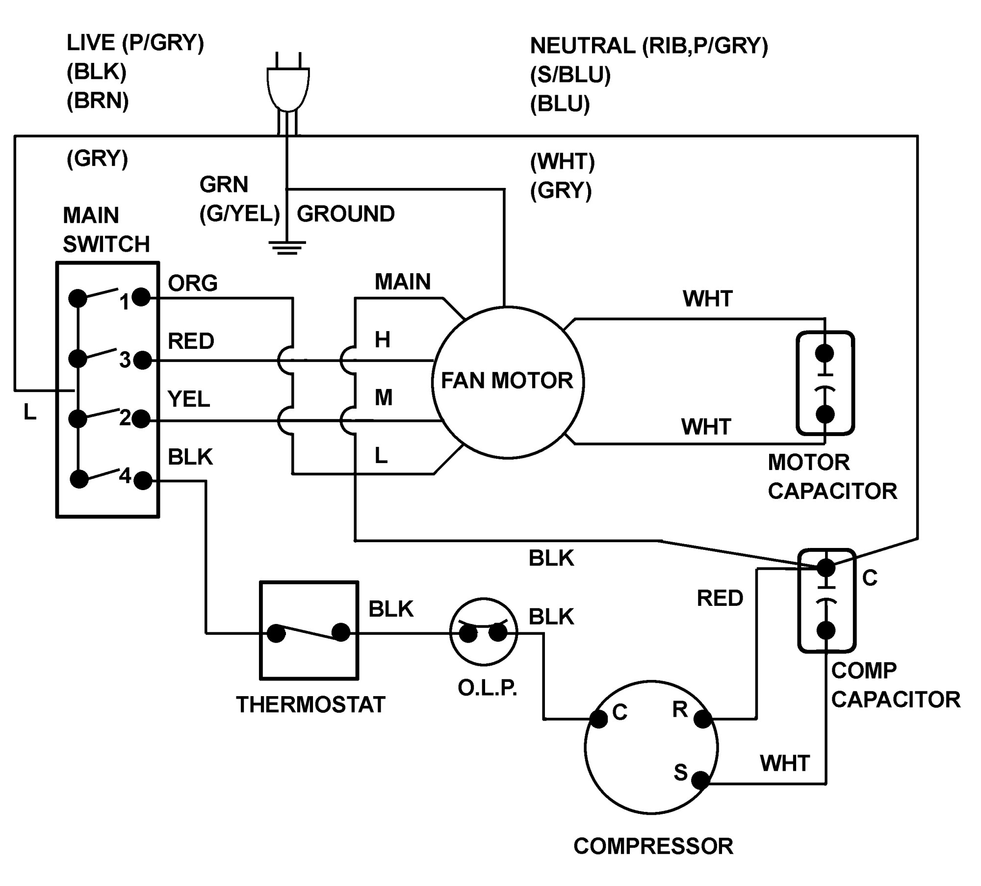 hight resolution of ac fan capacitor wiring wiring diagram centre hvac contactor wiring schematic