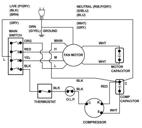 small resolution of ac fan capacitor wiring wiring diagram centre hvac contactor wiring schematic