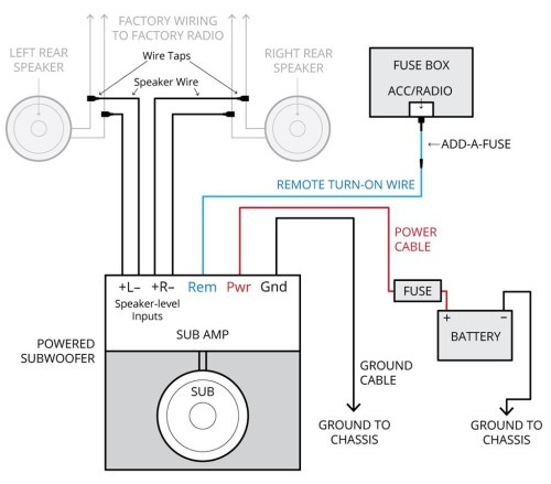 small resolution of amplifier wiring diagrams how to add an amplifier to your car audio car speaker wiring diagram