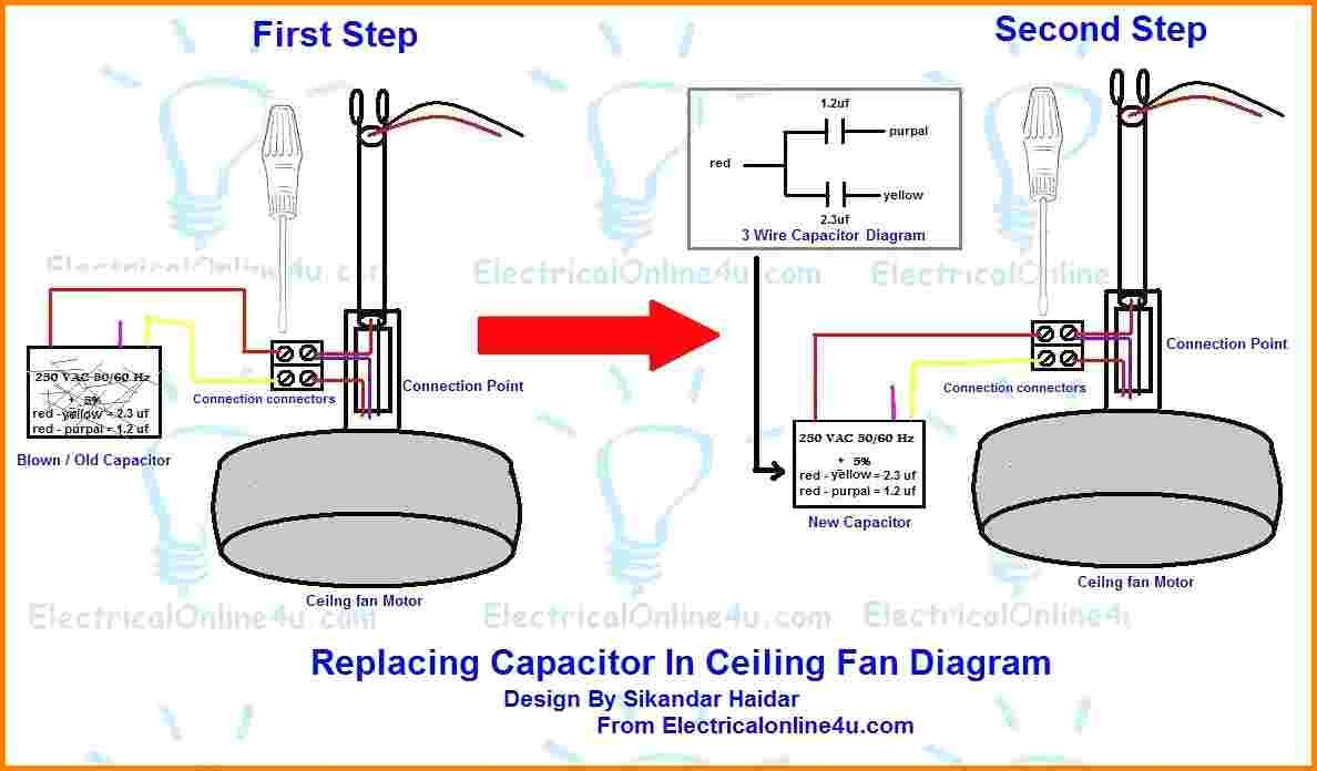 Wiring Diagram Ceiling Fan Motor