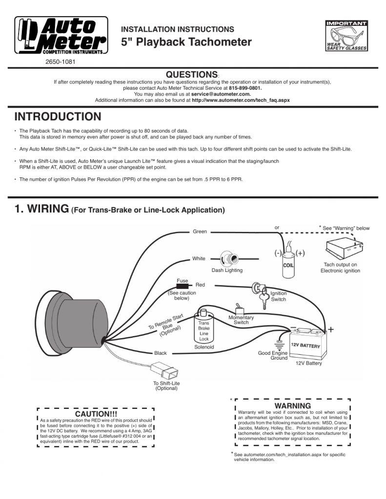 Sunpro Mini Tach Wiring Diagram Http Wwwusermanualguide6com Sun