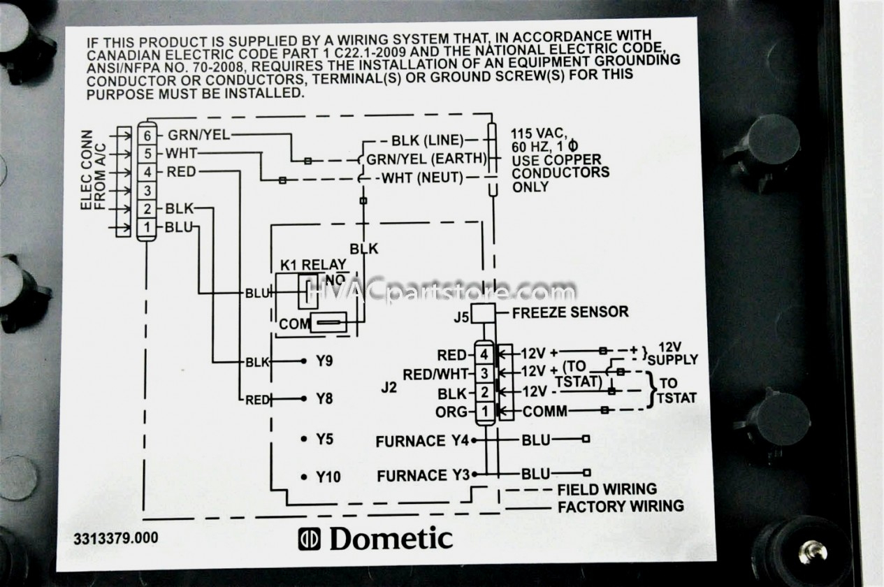 hight resolution of dometic digital thermostat wiring diagram manual e books dometic dometic wiring diagram boat ac dometic digital