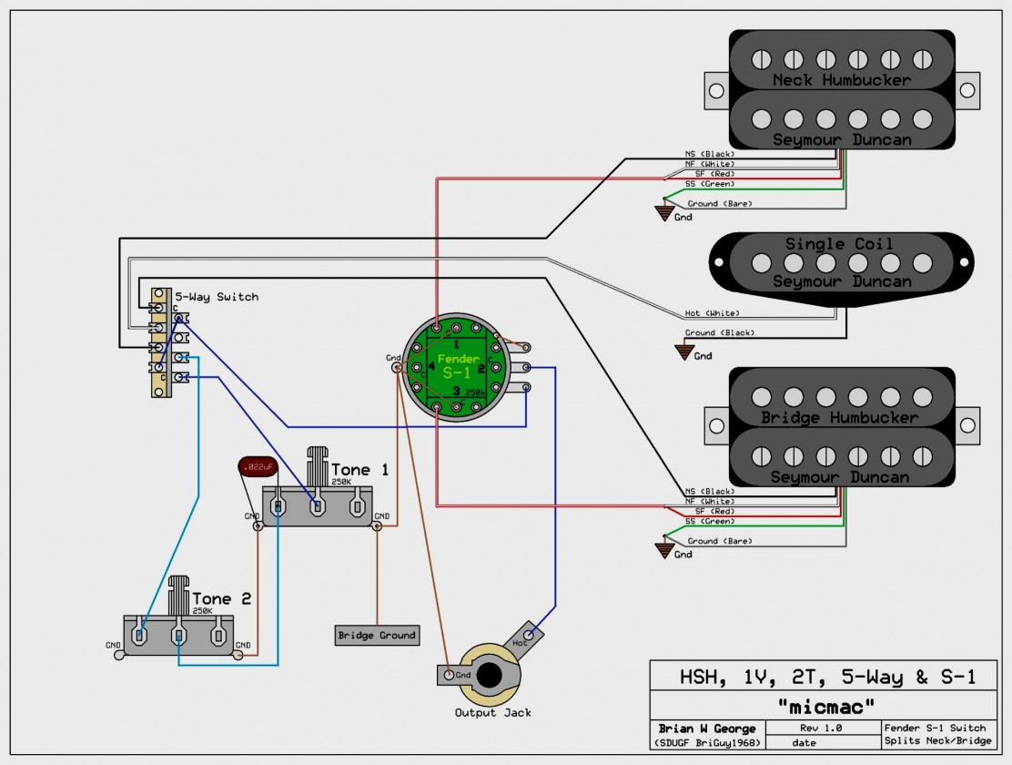 Fender Deluxe Active Jazz B Wiring Diagram - Electrical Wiring