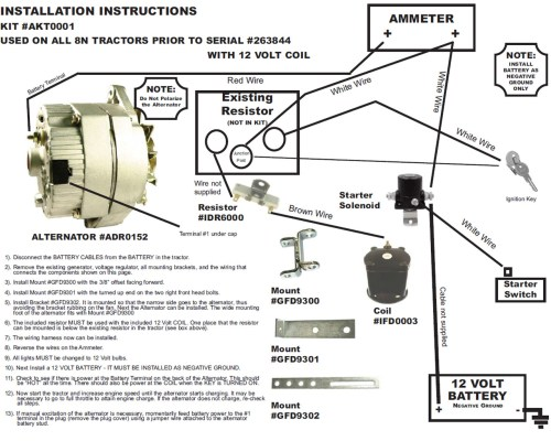 small resolution of ford 8n alternator conversion diagram manual e books ford 8n 12 volt conversion wiring diagram