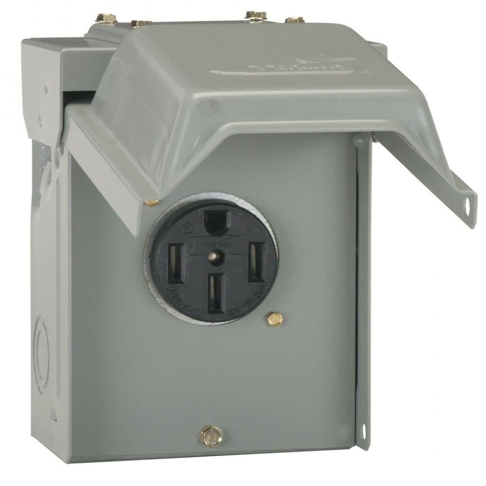 hight resolution of ge 50 amp temporary rv power outlet u054p the home depot 220v hot tub wiring diagram