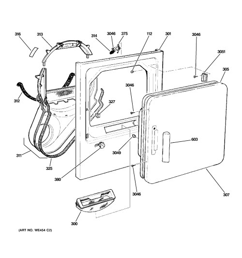 small resolution of ge model dx2300eg1ww residential dryer genuine parts ge dryer wiring diagram