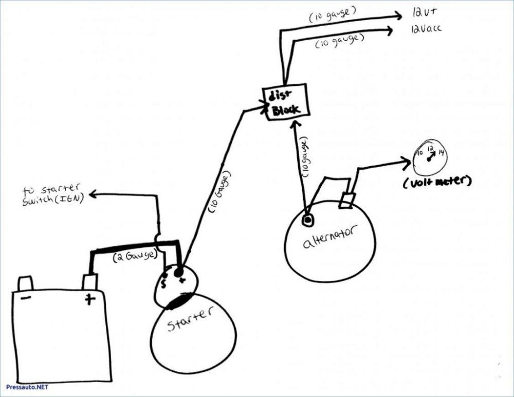 medium resolution of volt meter with 2 wire alternator wiring diagram wiring diagram a7 2 wire gm alternator wiring