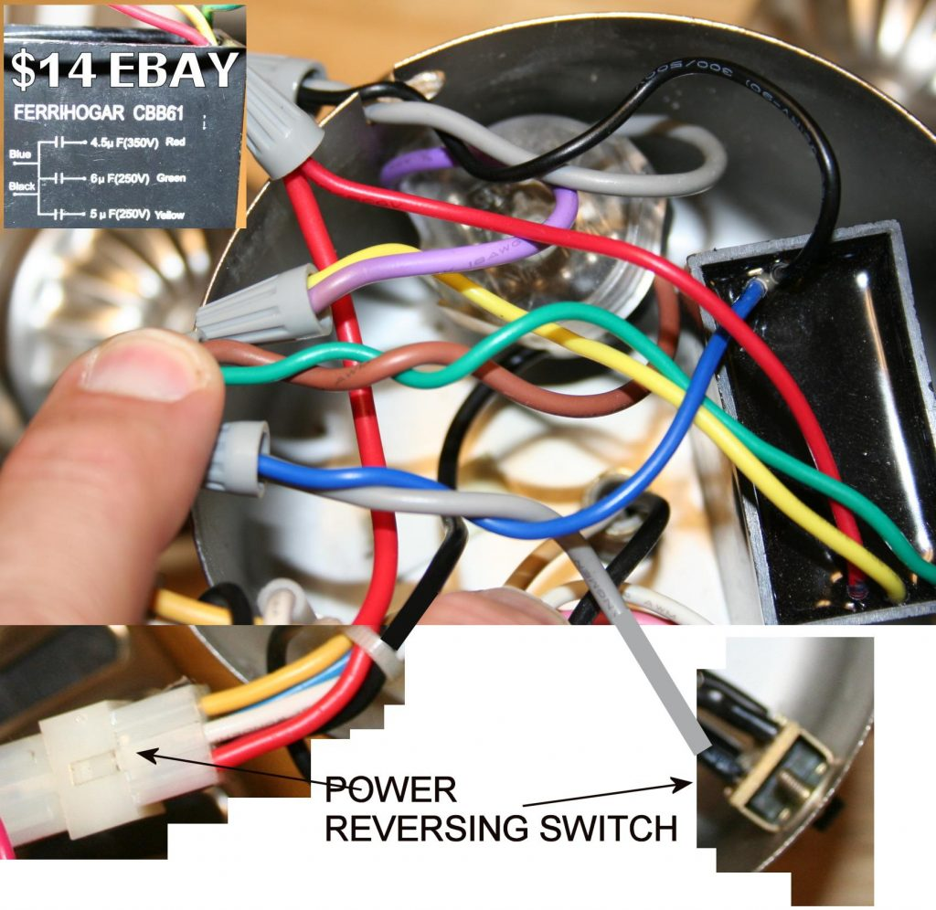 hight resolution of hampton bay ceiling fan capacitor wiring diagram 5 wire