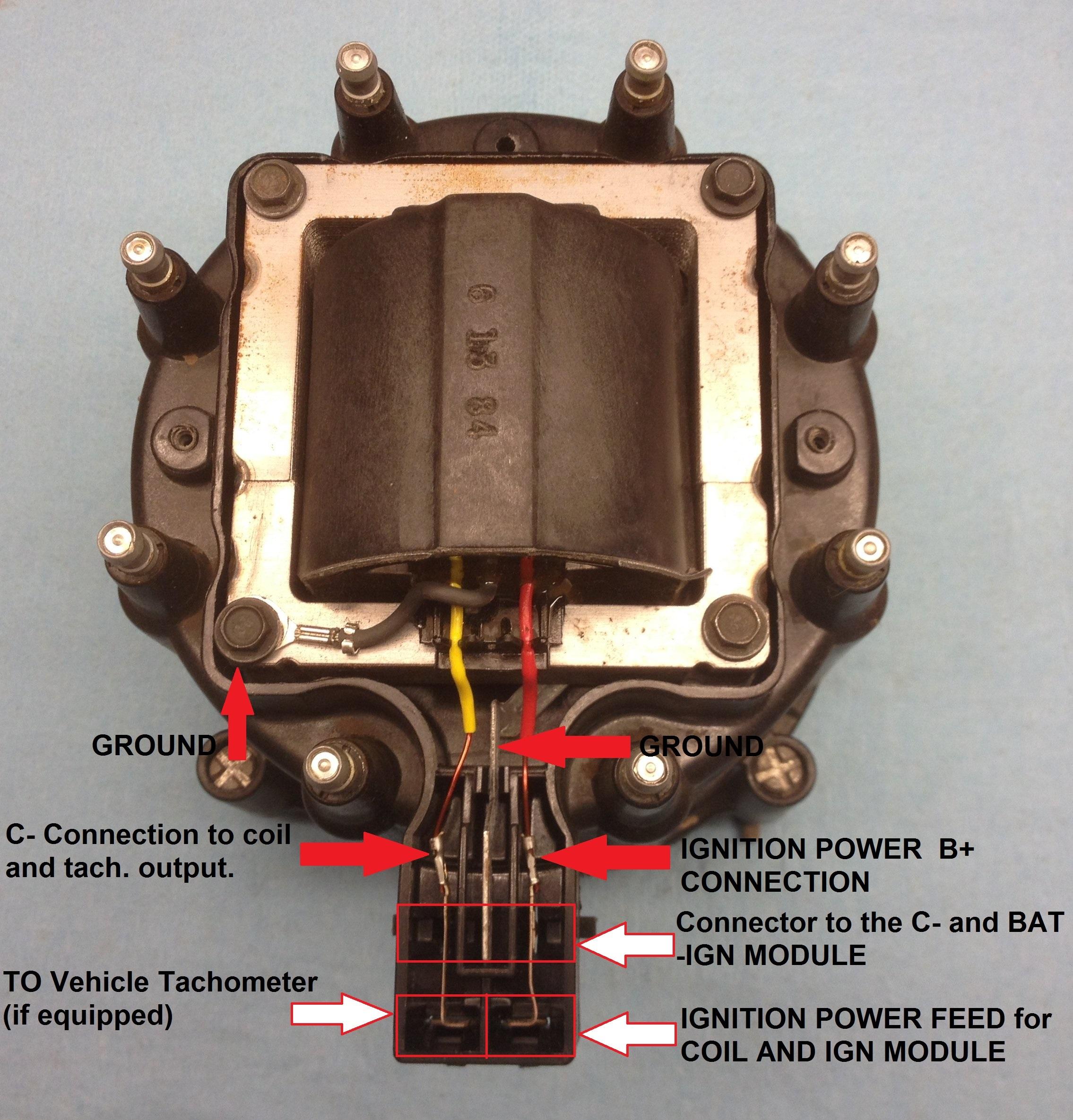 new jeep amc gm hei distributor & plug wires cj5 cj7 yj 258 wire hookup 1  car & truck ignition systems crpsecurity car & truck distributors & parts  crp security systems