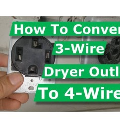 how to convert 3 wire dryer electrical outlet to 4 wire youtube 3 wire stove plug wiring diagram [ 1280 x 720 Pixel ]