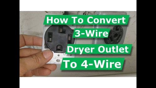 small resolution of how to convert 3 wire dryer electrical outlet to 4 wire youtube 3 wire stove plug wiring diagram