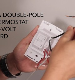 how to install wall thermostat double pole on 240v baseboard 240 volt baseboard heater wiring diagram [ 1280 x 720 Pixel ]