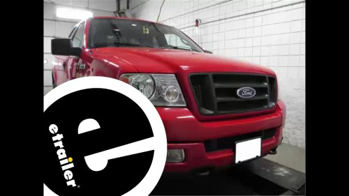 small resolution of install trailer wiring 2004 ford f150 118247 etrailer youtube 6 pin trailer wiring diagram
