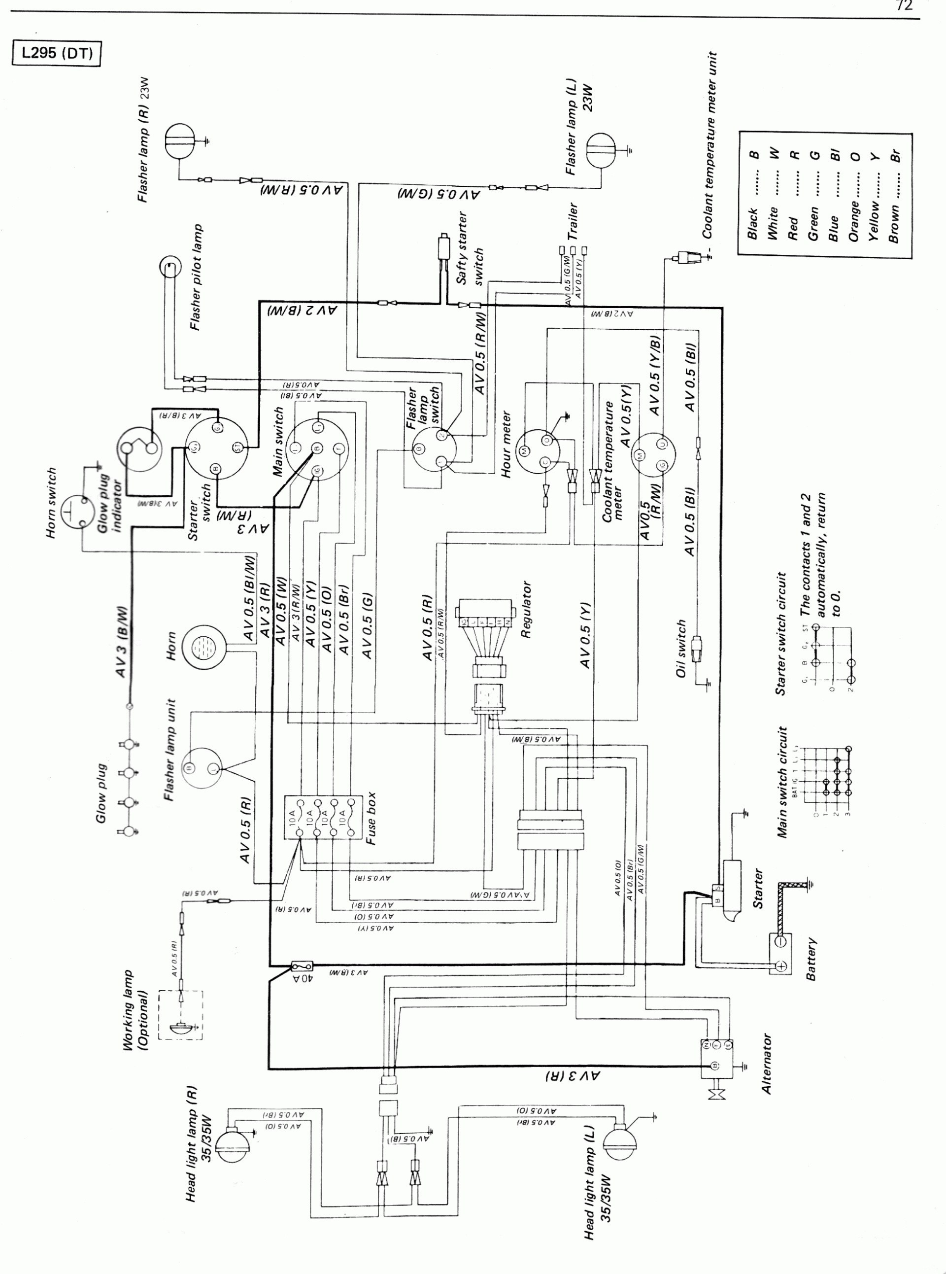Kubota Work Light Wiring Diagram