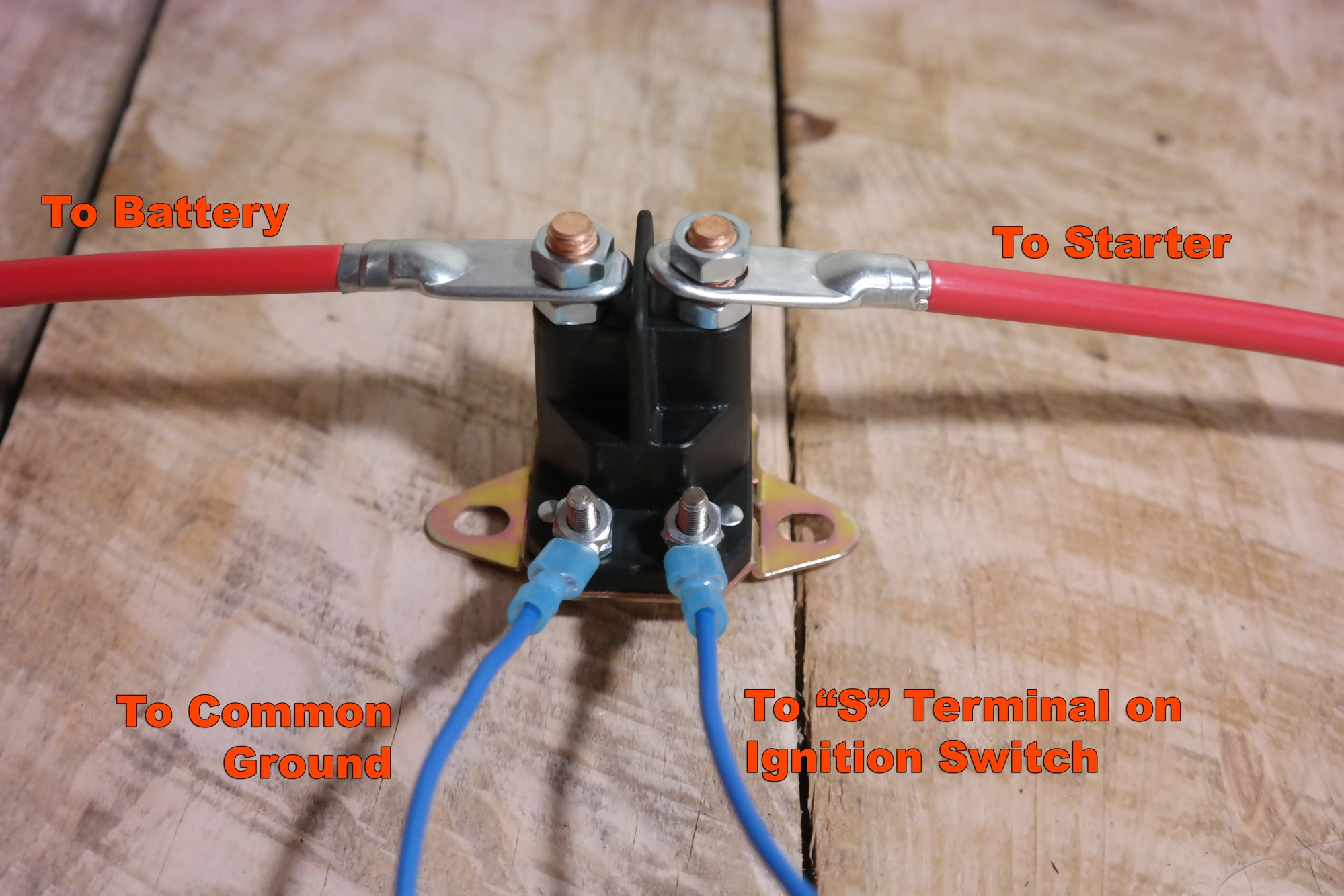 hight resolution of  basic tractor starter solenoid wiring diagram on starter relay wiring diagram ford 5000 tractor wiring