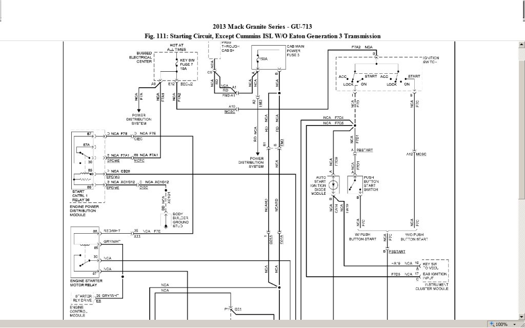 lng truck mack le wiring