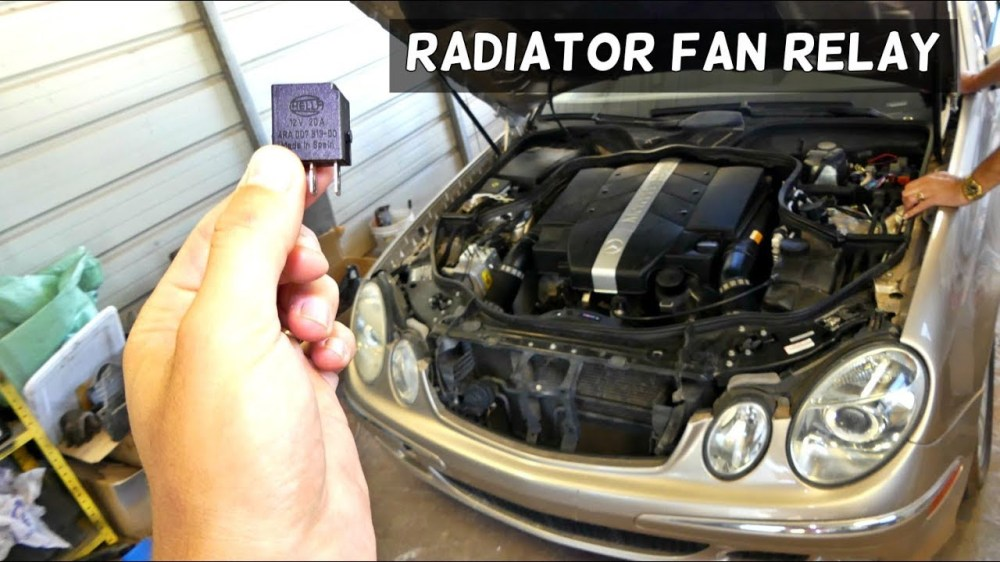 medium resolution of mercedes w211 radiator fan relay location replacement youtube cooling fan relay wiring diagram