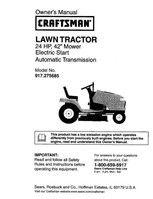 small resolution of  model wiring craftsman diagram tractor 917272674 all wiring craftsman model 917 wiring diagram