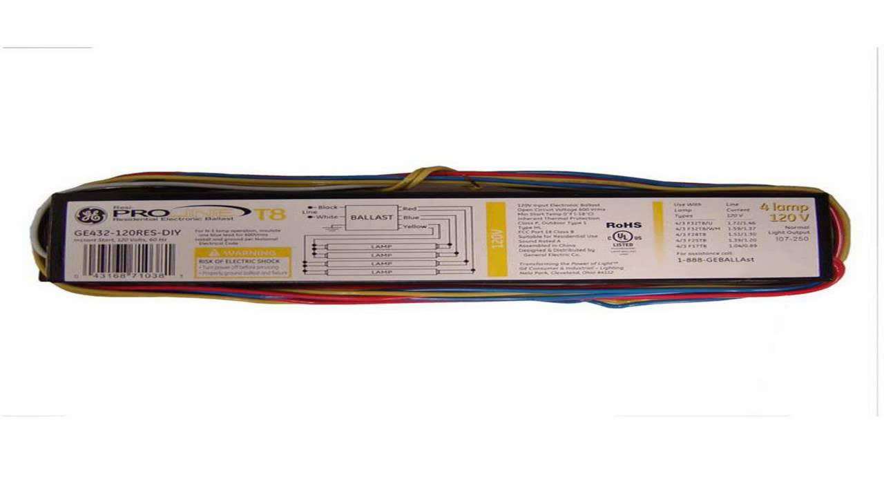 hight resolution of philips advance icn4p32n 120 277v 4 lamp t8 electronic ballast youtube 4 lamp t8 ballast wiring diagram
