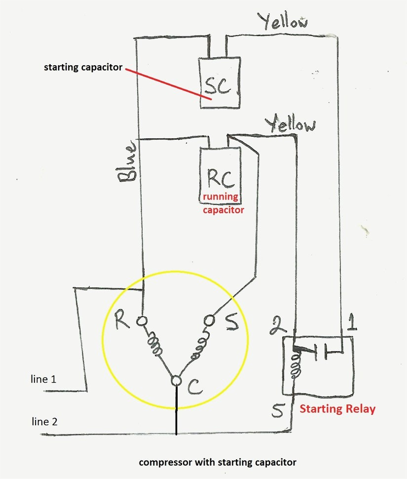 C9b187 Relay For Compressor Motor Wiring Diagram Wiring Resources