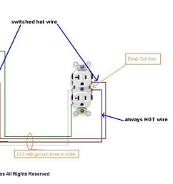 receptacle wiring diagram 12 3 wiring diagrams hubs switched outlet wiring diagram [ 1280 x 635 Pixel ]
