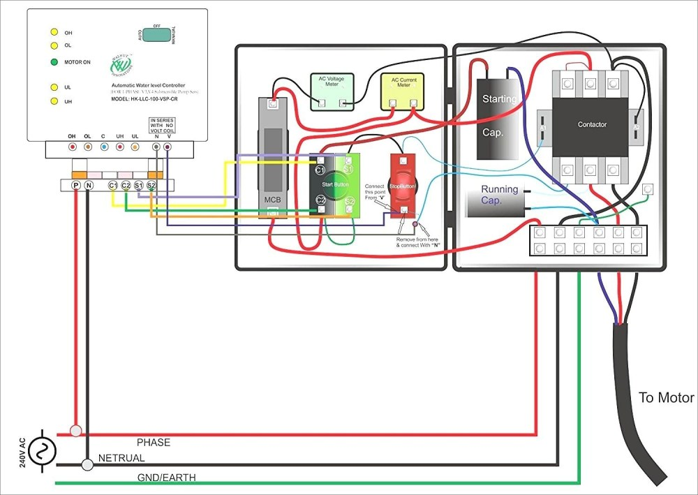 medium resolution of single phase submersible pump starter wiring diagram gooddy org best single phase motor wiring diagram
