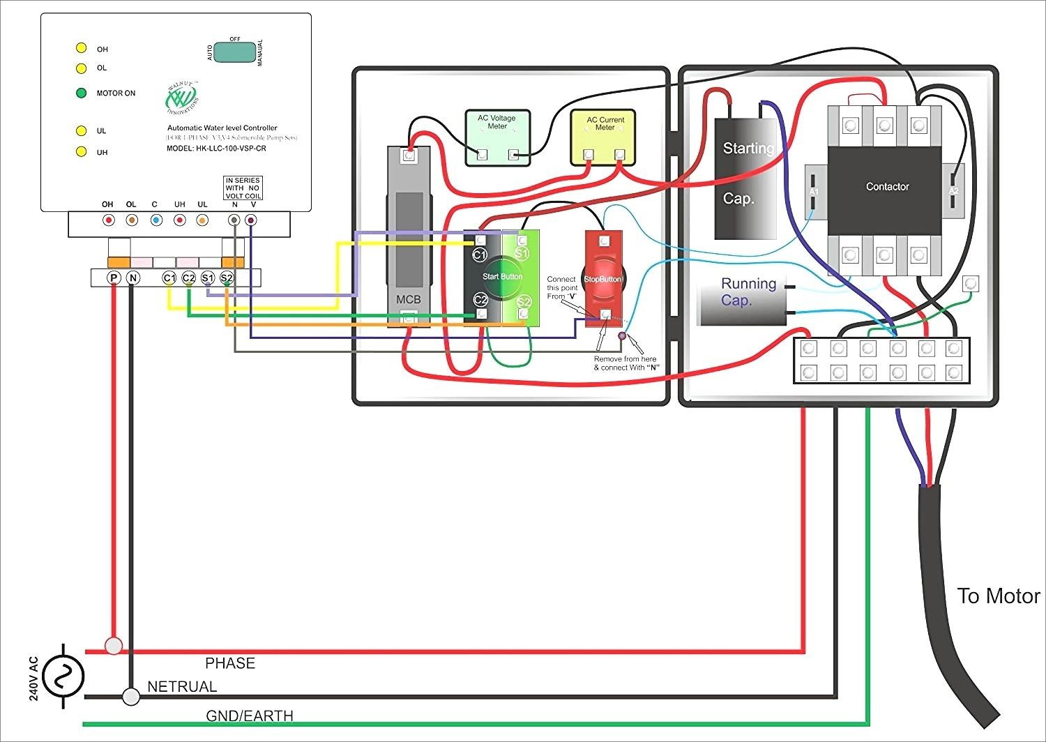 hight resolution of single phase submersible pump starter wiring diagram gooddy org best single phase motor wiring diagram