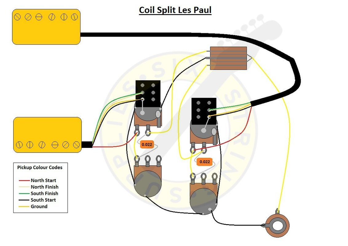 hight resolution of six string supplies coil split les paul wiring split coil humbucker wiring diagram