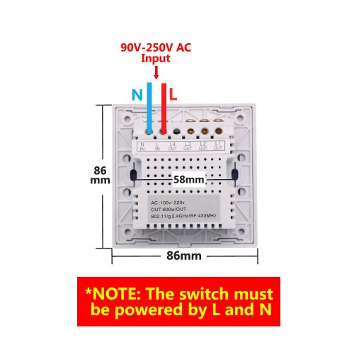 small resolution of sonoff t1 1 3 gang wifi rf 86 smart wall touch light switchsonoff t1 1 3