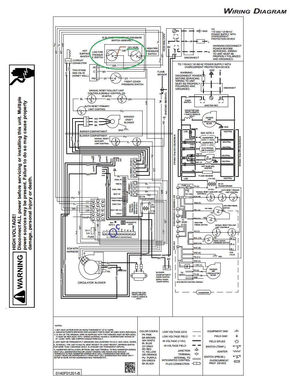 Comfortmaker Furnace Wiring Diagrams