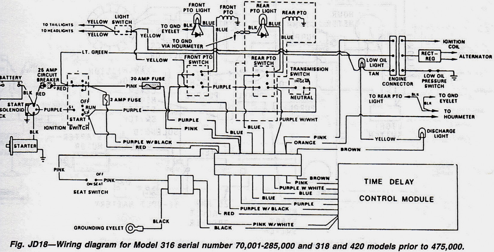 Jd 430 Wiring Diagram - Jd Wiring Diagram on