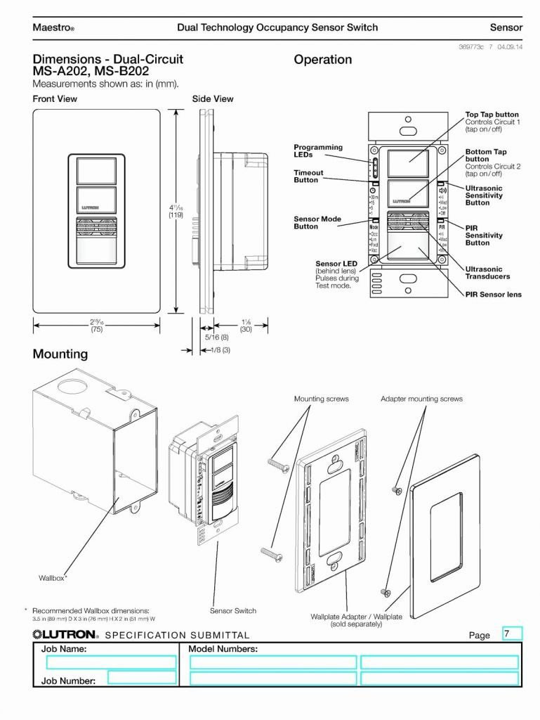 Mh Ms Ops5m Wiring Diagram Lutron Occupancy Sensor Switch ... Daylight Switch Wiring Diagram on