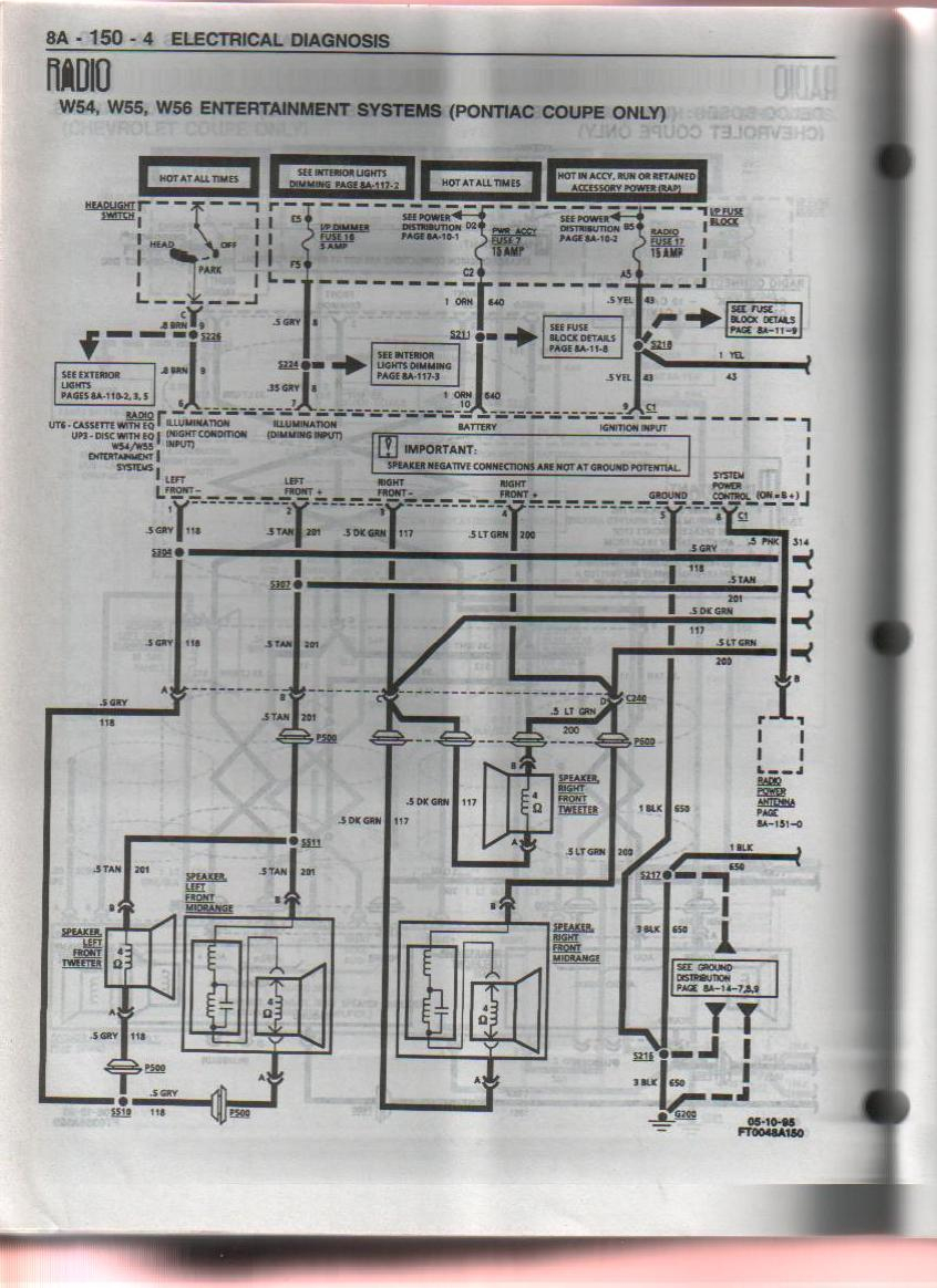 hight resolution of wrg 9367 grand am monsoon stereo wiring diagram