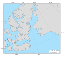A map of the ice islands from the 2008 Petermann Glacier calving event digitized to date (quality control pending). On July 17, 2008, a 29.6 km2 ice island calved from the floating glacier tongue in Petermann Fiord, northwest Greenland. By November 14, 2008 this ice island had broken into 117 unique ice island fragments. Over 300 images were examined and 368 polygons were digitized from 50 images to document this event so far. Note that satellite imagery was less frequent in September and October 2008.