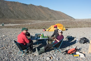The weather was so lovely in Purple Valley when we arrived, we didn't even need our kitchen tent!