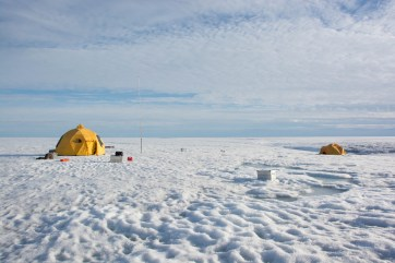 A view of the Milne Ice Shelf camp.