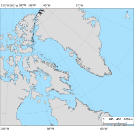 A map of the ice islands that originated from Northwest Greenland Glaciers, but not the Petermann Glacier (including Ryder, Steensby, C.H. Ostenfeld, glaciers, etc.). These were digitized from August 2011 to December 31, 2013. A total of 7573 polygons were digitized from hundreds of images account for the loss of over 500 km2 of ice from these glaciers.