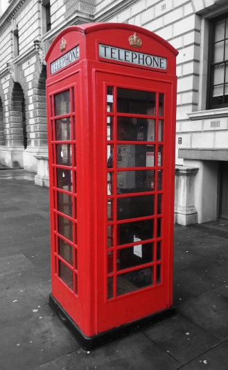 The famous red telephone box