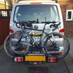 Bikes on back of campervan