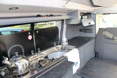 Wirral Campervan Hire - kitchen