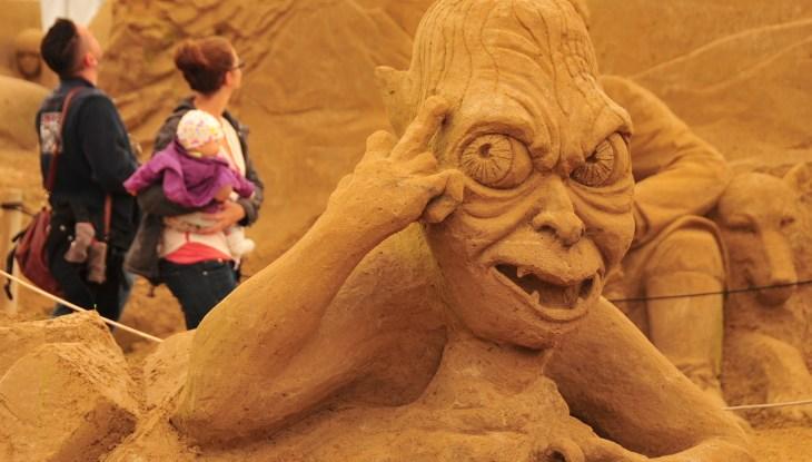 Sandskulpturen-Festival 2015: Der Sandmann ist da. . .